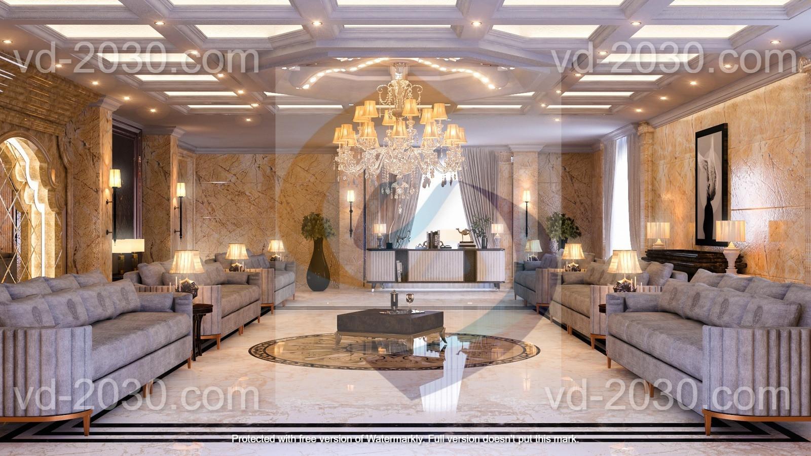 Al-Ghamdi reception hall  - vision dimensions - ابعاد الرؤية