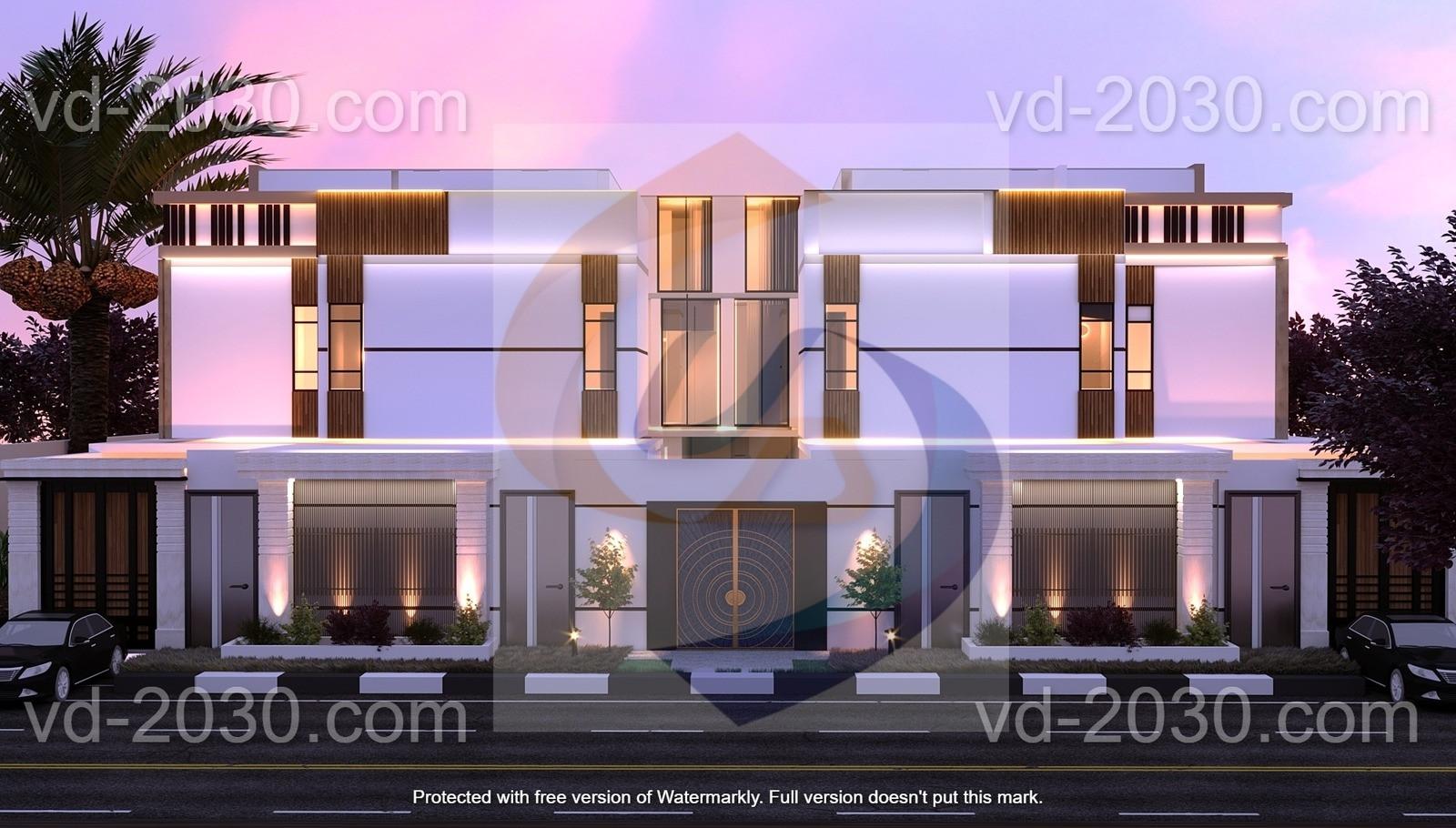 Villa on Al Ameri  - vision dimensions - ابعاد الرؤية