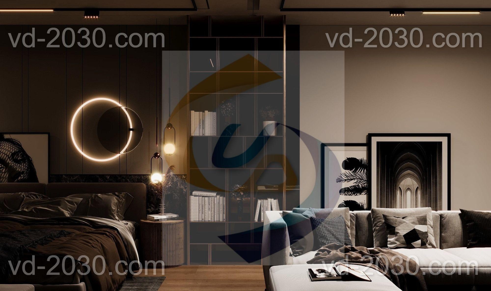 غرفة نوم  مشروع الغامدي - vision dimensions - ابعاد الرؤية